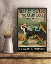 Camping Life Route Greater Swiss Mountain Dog 11x17 Poster lifestyle-poster-3