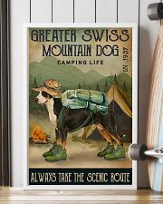 Camping Life Route Greater Swiss Mountain Dog 11x17 Poster lifestyle-poster-4