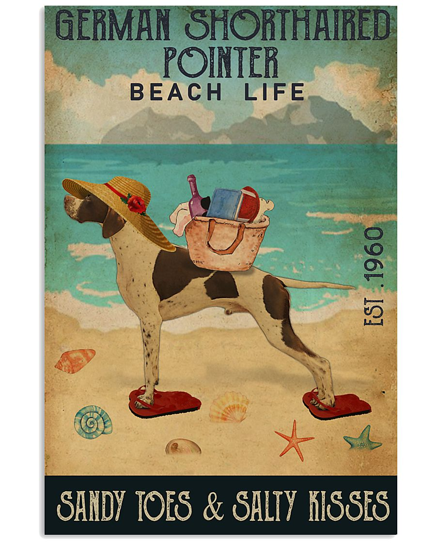 Beach Life Sandy Toes German Shorthaired Pointer 11x17 Poster