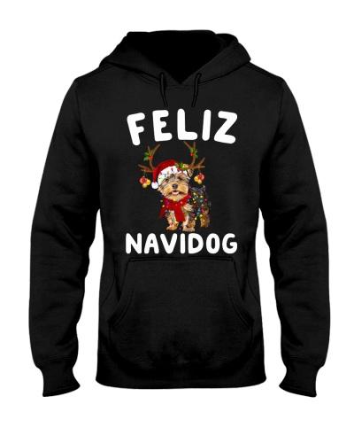 Reindeer Feliz Navidog Yorkshire Terrier
