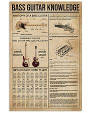 Bass Guitar Knowledge Instrument 11x17 Poster front