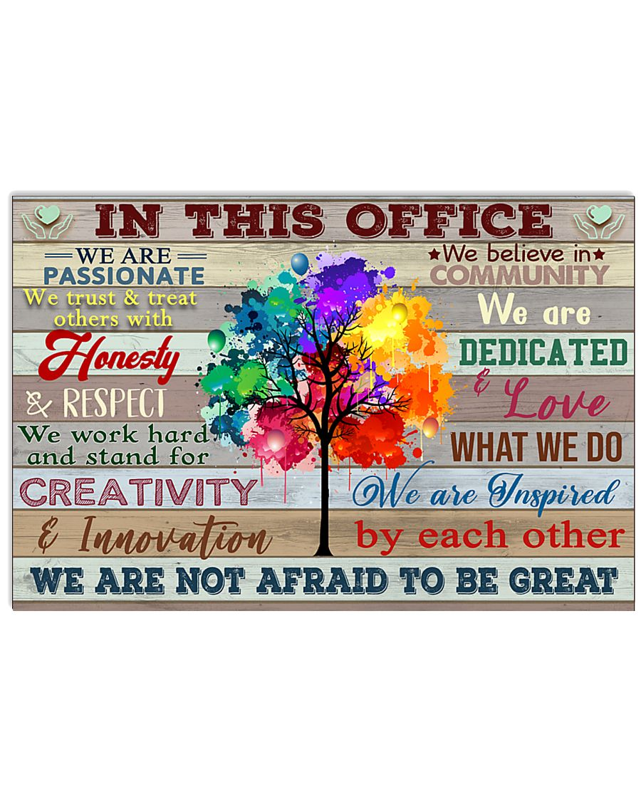 Nurse In This Office Not Afraid To Be Great 17x11 Poster