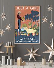 Vintage Girl Loves Gardening Labrador Retriever 11x17 Poster lifestyle-holiday-poster-1