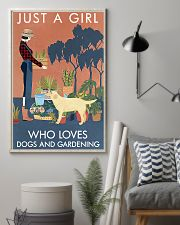 Vintage Girl Loves Gardening Labrador Retriever 11x17 Poster lifestyle-poster-1