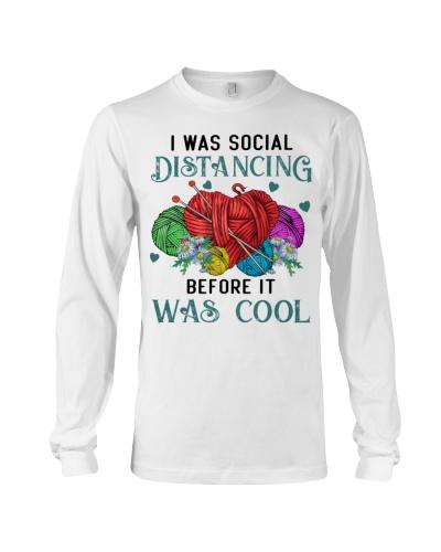 I Was Social Distancing Knitting