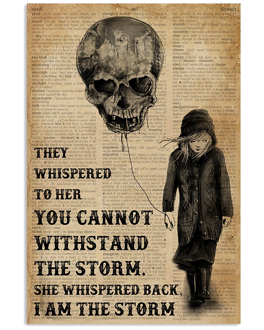 I Am The Storm Balloon Skull 16x24 Poster