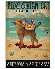 Beach Life Sandy Toes Abyssinian Cat 11x17 Poster front