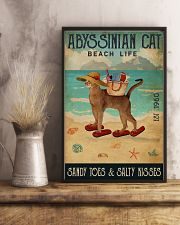 Beach Life Sandy Toes Abyssinian Cat 11x17 Poster lifestyle-poster-3