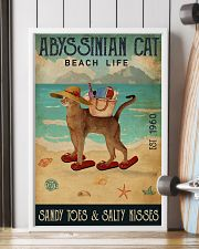 Beach Life Sandy Toes Abyssinian Cat 11x17 Poster lifestyle-poster-4