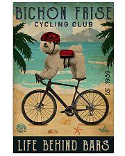 Cycling Club Bichon Frise 11x17 Poster front