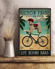 Cycling Club Bichon Frise 11x17 Poster lifestyle-poster-3