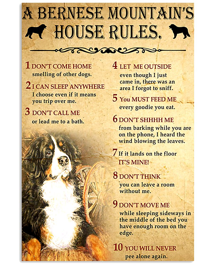 Bernese Mountain House Rules 11x17 Poster