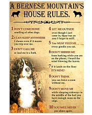 Bernese Mountain House Rules 11x17 Poster front