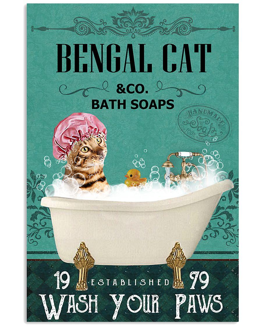 Green Bath Soap Company Bengal Cat 11x17 Poster