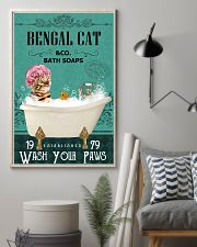 Green Bath Soap Company Bengal Cat 11x17 Poster lifestyle-poster-1