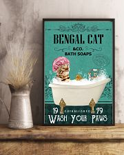 Green Bath Soap Company Bengal Cat 11x17 Poster lifestyle-poster-3