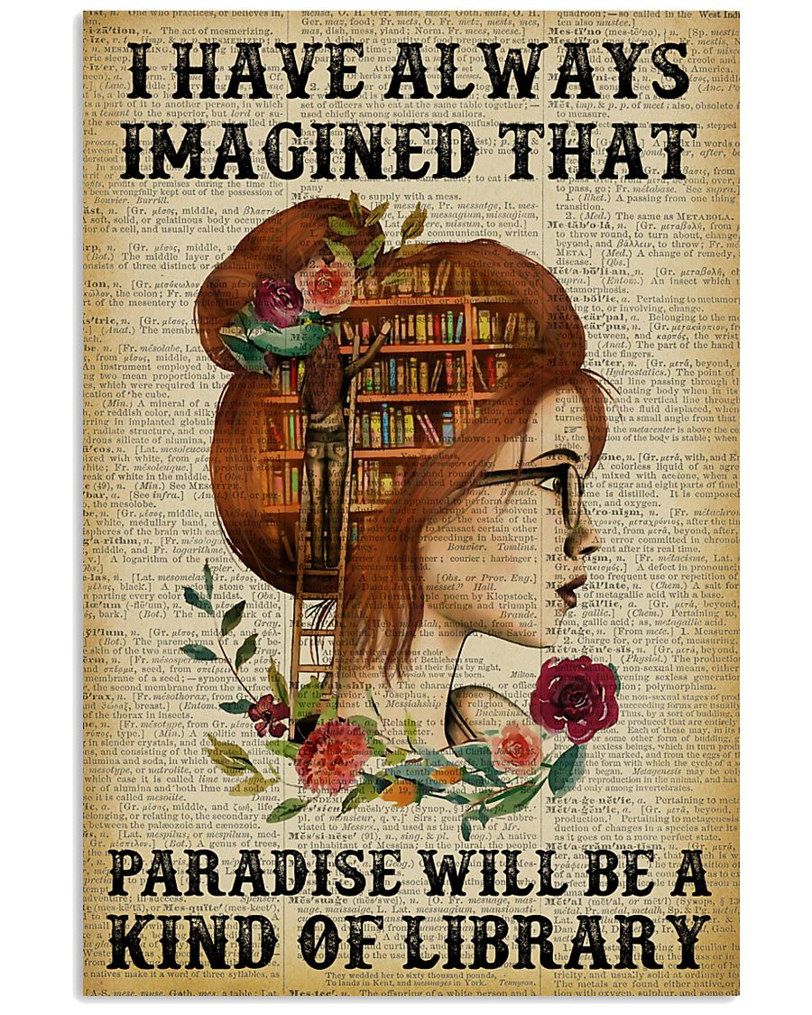 A Kind Of Library Reading Redhead 11x17 Poster