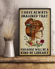 A Kind Of Library Reading Redhead 11x17 Poster lifestyle-poster-3