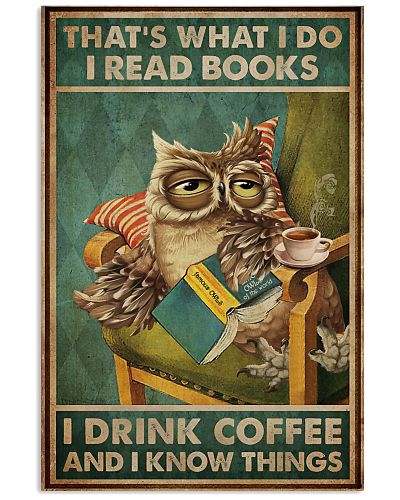 Read Books And Drink Coffee Owl