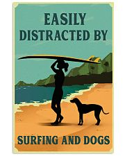 Vintage Distracted Surfing Rhodesian Ridgeback 11x17 Poster front