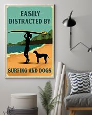 Vintage Distracted Surfing Rhodesian Ridgeback 11x17 Poster lifestyle-poster-1