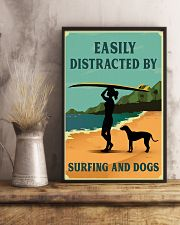 Vintage Distracted Surfing Rhodesian Ridgeback 11x17 Poster lifestyle-poster-3