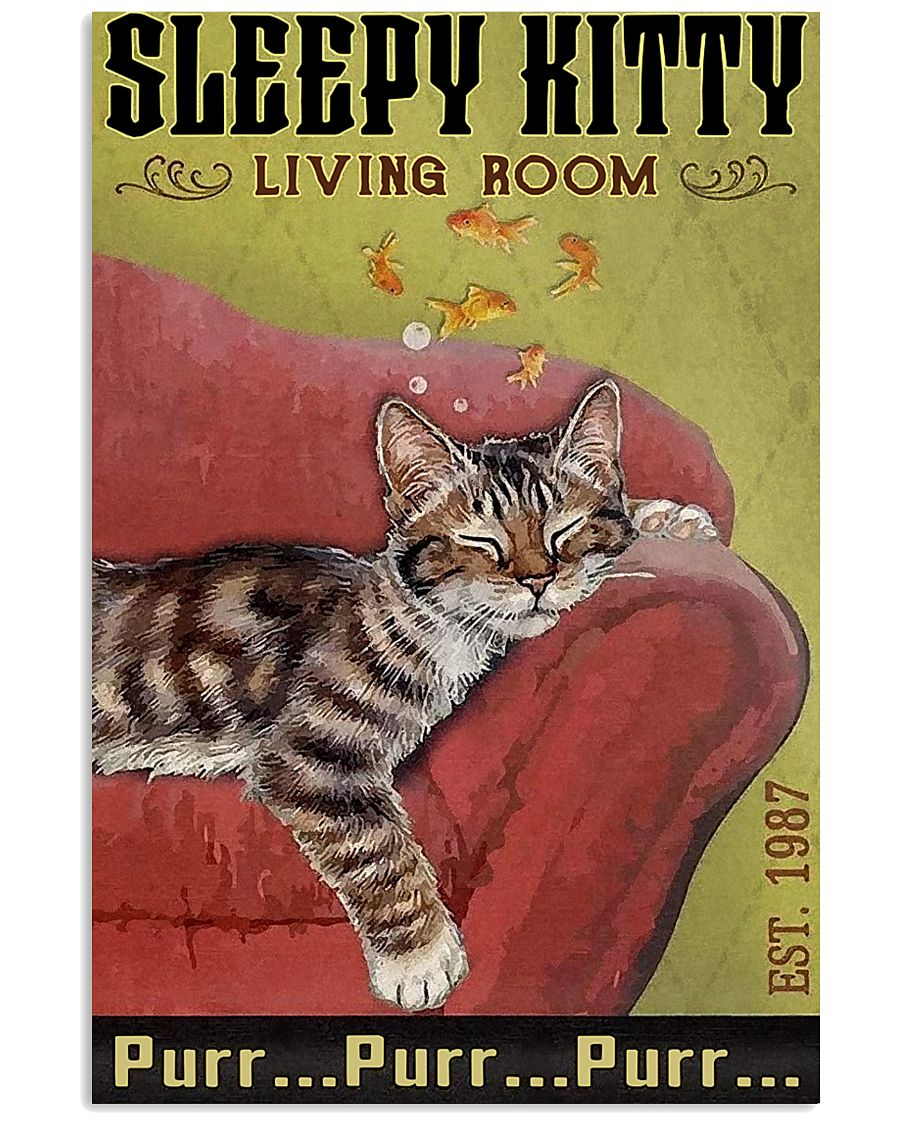 Living Room Cat 11x17 Poster