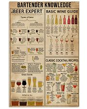 Bartender Knowledge 16x24 Poster front