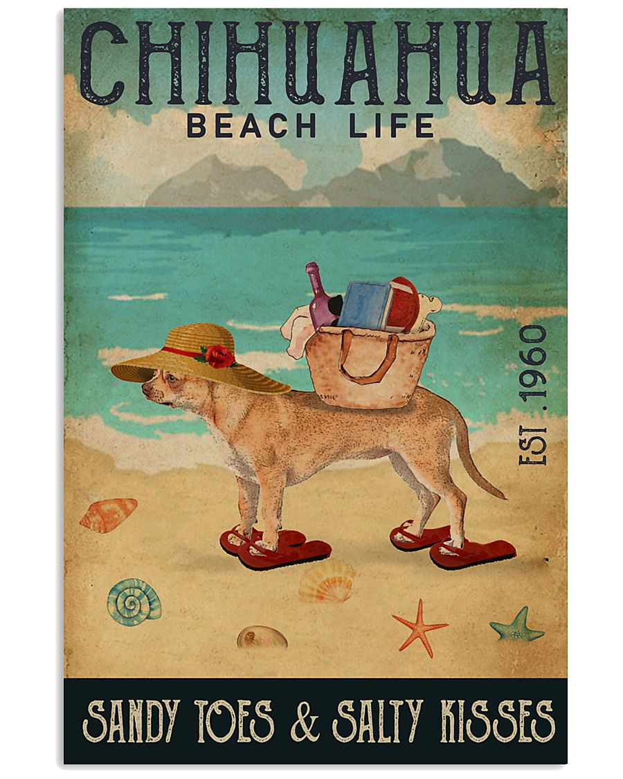 Beach Life Sandy Toes Chihuahua 11x17 Poster