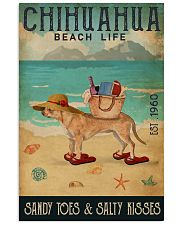 Beach Life Sandy Toes Chihuahua 11x17 Poster front