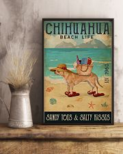 Beach Life Sandy Toes Chihuahua 11x17 Poster lifestyle-poster-3