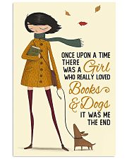 Autumn Girl Once Upon A Time Dog Reading 16x24 Poster front