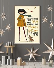 Autumn Girl Once Upon A Time Dog Reading 16x24 Poster lifestyle-holiday-poster-1