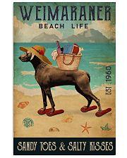 Beach Life Sandy Toes Weimaraner 11x17 Poster front