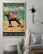 Beach Life Sandy Toes Weimaraner 11x17 Poster lifestyle-poster-1