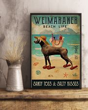 Beach Life Sandy Toes Weimaraner 11x17 Poster lifestyle-poster-3