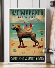 Beach Life Sandy Toes Weimaraner 11x17 Poster lifestyle-poster-4