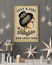 Just A Girl Who Loves Yarn 11x17 Poster lifestyle-holiday-poster-1