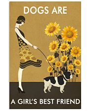 Sunflower Vintage Girl Love Is French Bulldog 11x17 Poster front