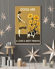 Sunflower Vintage Girl Love Is French Bulldog 11x17 Poster lifestyle-holiday-poster-1