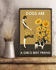 Sunflower Vintage Girl Love Is French Bulldog 11x17 Poster lifestyle-poster-3