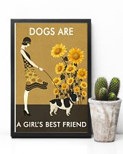 Sunflower Vintage Girl Love Is French Bulldog 11x17 Poster lifestyle-poster-8