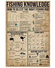Fishing Knowledge 16x24 Poster front