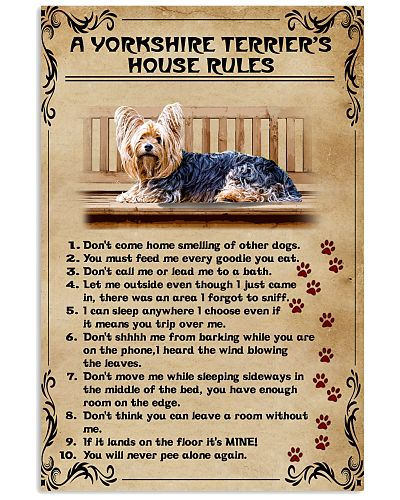 A Yorkshire Terrier's House Rules Vintage
