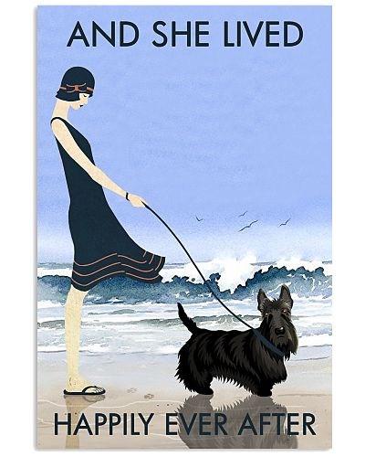 Beach And Dog Scottish Terrier