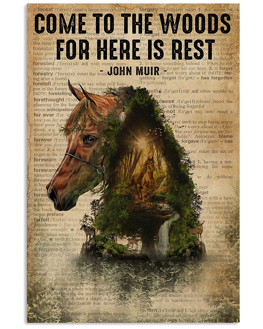 Forest Dictionary Come To The Woods Horse 11x17 Poster