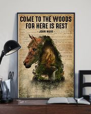 Forest Dictionary Come To The Woods Horse 11x17 Poster lifestyle-poster-2