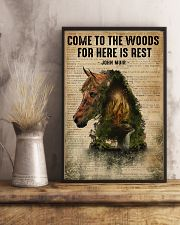 Forest Dictionary Come To The Woods Horse 11x17 Poster lifestyle-poster-3