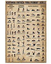 Ashtanga Vinyasa Yoga Primary Series 16x24 Poster front