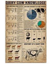 Dairy Cow Knowledge Farm 16x24 Poster front